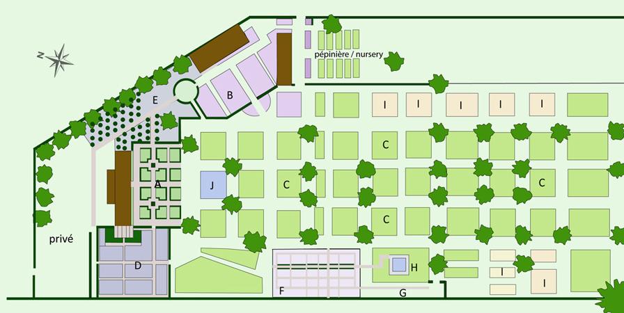 le jardin plume plan du jardin garden plan le jardin plume. Black Bedroom Furniture Sets. Home Design Ideas